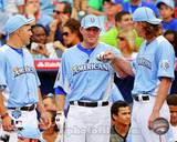 Los Angeles Angels - Mark Trumbo, Jered Weaver, Mike Trout Photo Photo