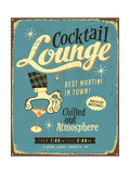 Vintage Metal Sign - Cocktail Lounge Posters by Real Callahan
