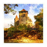 Medieval Castle In Germany - Artwork In Painting Style Prints by  Maugli-l