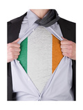 Business Man With Irish Flag T-Shirt Posters by  IJdema