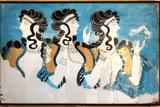 Minoan Ladies Mural Painting Fresco Reprodukcje autor Hannuviitanen