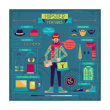 Infographic Elements In Retro Style. Hipster Features Posters by  incomible