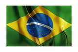 Brazilian Flag, South America, Country 2014 World Cup Prints by Mik Ath