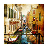 Amazing Venice -Artwork In Painting Style Print by  Maugli-l