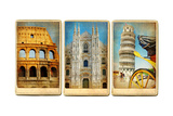 Italian Landmarks - Vintage Cards Series Prints by  Maugli-l