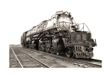 Vintage Steam Engine Railroad Train Locomotive Art by  Olivier