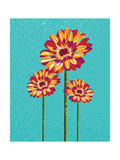 Colorful Abstract Flowers Illustration Prints by  cienpies