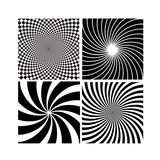 Black And White Hypnotic Background Posters by  yganko
