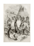 Native Americans Tribe Old Illustration Print by  marzolino