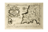 Old Map Of Capuchins Province Of Syracuse In Sicily Posters by  marzolino