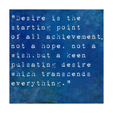 Inspirational Quote By Napoleon Hill On Earthy Blue Background Art by  nagib