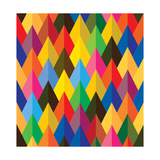 Seamless Abstract Colorful Of Cones Or Triangle Shapes Print by  smarnad