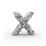 Letter X, Stacked From Paper Sheets Prints by  iunewind