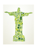 Brazil Go Green Concept Illustration Pôsters por  cienpies