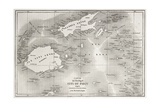 Old Map Of Fiji Islands Posters by  marzolino