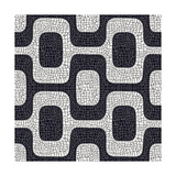 Abstract Black And White Pavement Pattern Posters by  cienpies