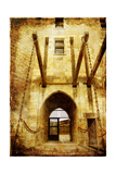 Castle' Entrance Gate - Picture In Retro Style Poster by  Maugli-l