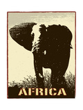 Africa Image With Elephant Silhouette Prints by  Phase4Photography