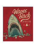 Summer Shark Beach Sketch 3 Affiches par  studiohome