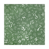 Mathematics Formulas Abstract Background (On Green Chalkboard) Prints by  pashabo