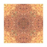 Abstract Pink Peach Stained Glass Kaleidoscope Background Art by  FinaLee