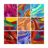 Abstract Painting Background Design Set Posters by Igor Zakowski
