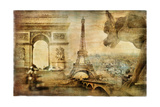 Parisian Mystery - Artwork In Retro Style Prints by  Maugli-l