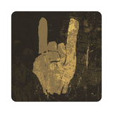 "Grunge ""Rock On"" Gesture Prints by  pashabo"