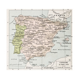 Spain Between 1808 And 1814 Old Map Prints by  marzolino