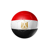 Soccer Football Ball With Egypt Flag Prints by  daboost