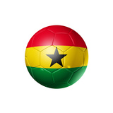 Soccer Football Ball With Ghana Flag Posters by  daboost
