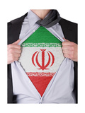 Business Man With Iranian Flag T-Shirt Poster by  IJdema