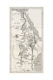 Nile Basin Old Map. By Unidentified Author, Published On Le Tour Du Monde, Paris, 1867 Prints by  marzolino