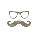 Special Labels With Hipster Mustache Prints by  place4design