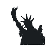 Statue Of Liberty Silhouette Prints by  pashabo