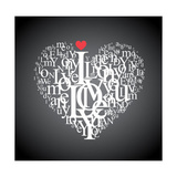 Heart Shape From Letters - Typographic Composition Posters by  feoris