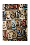 A Random Selection Of Vintage And Colorful Letterpress Numbers As A Background Posters by  Space-Heater
