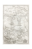 Southern Sahara And Central Africa Old Map Plakater af marzolino