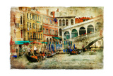 Amazing Venice, Rialto Bridge - Artwork In Painting Style Posters by  Maugli-l
