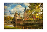 Autumn Castle - Artwork In Painting Style Posters by  Maugli-l