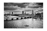 London, The Uk. Big Ben, The Palace Of Westminster In Black And White. The Icon Of England Prints by PHOTOCREO Michal Bednarek