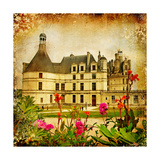 Chambord Castle - Artistic Picture In Retro Style Art by  Maugli-l