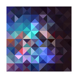 Unusual Vintage Abstract Geometric Pattern Premium Giclee Print by  cienpies