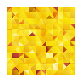 Yellow Triangles Seamless Pattern Print by  art_of_sun
