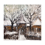 Old Street In Vitebsk In The Winter Premium Giclee Print by  balaikin2009