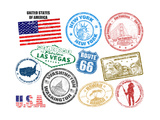 Stamps With United States Of America Posters by  radubalint