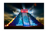 Chichen Itza Mayan Pyramid Night View Prints by Subbotina Anna