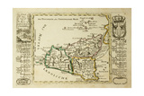 Sicily Old Map, May Be Dated To The Beginning Of The Xviii Sec Posters by  marzolino