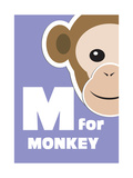 M For The Monkey, An Animal Alphabet For The Kids Posters by Elizabeta Lexa