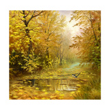 Beautiful Autumn Landscape, Canvas, Oil Poster by  balaikin2009